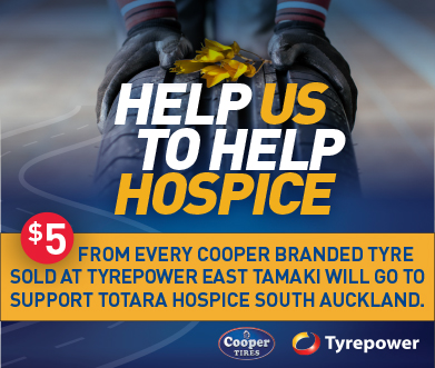 Tyrepower East Tamaki is Donating $5 for every Cooper Tyre sold to support Totara Hospice South Auckland