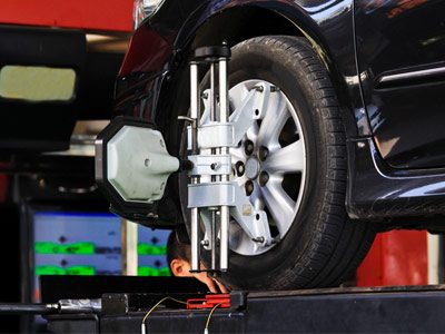 wheel balancing and alignment at Tyrepower