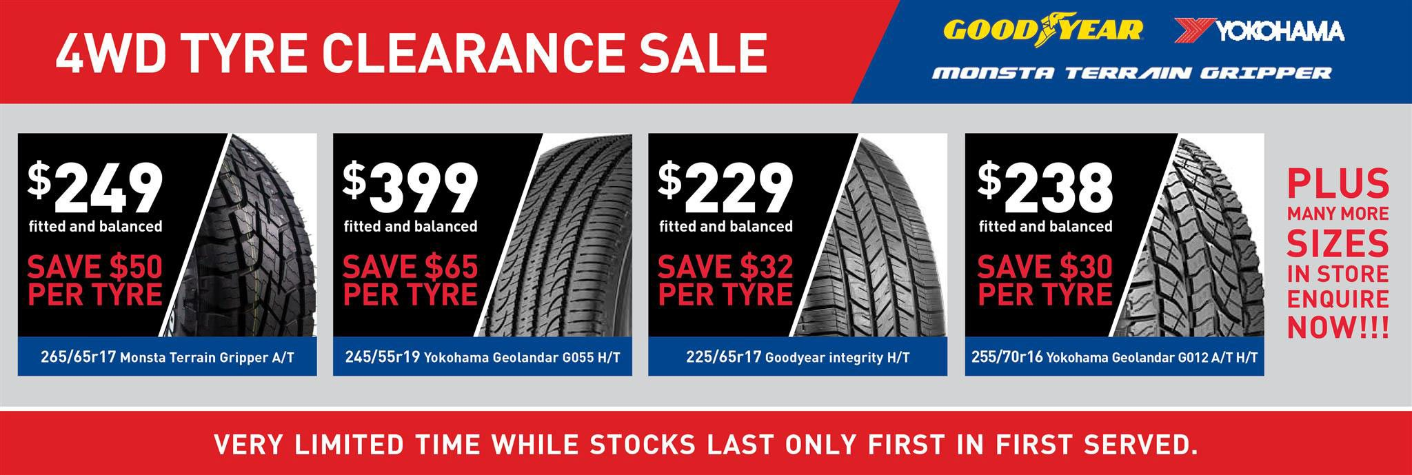 Christchurch SUV & 4WD tyre sale now on