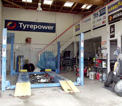 tyre workshop at PioPio tyrepower