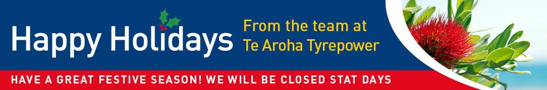 Te Aroha Tyrepower Christmas holiday opening hours