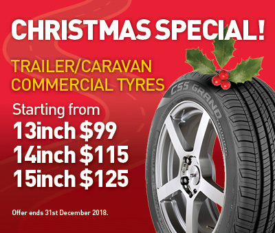 Trailer / Caravan commercial tyres from $99 this Christmas
