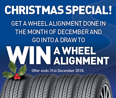 Get a Wheel alignment in Dec & get another one free