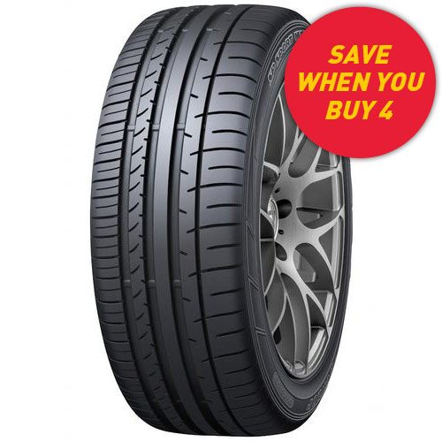 Save when you buy 4 Dunlop SP Sport Maxx 050+ tyres - see in store for details