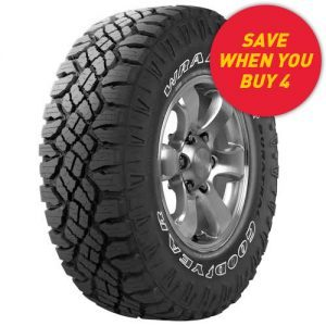 Goodyear Wrangler Duratrac Tyre deal - save when you buy 4 tyres at Tyrepower
