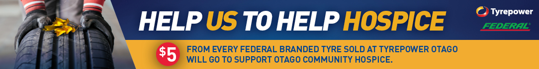 Tyrepower Otago is Donating $5 for every Cooper Tyre sold to support Otago Community Hospice