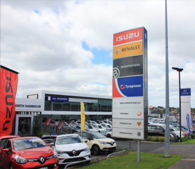 external signage North Harbour Tyrepower North Shore Auckland