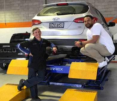 Basketball Star Mika Vukona takes a tour of North Harbour Tyrepower 1