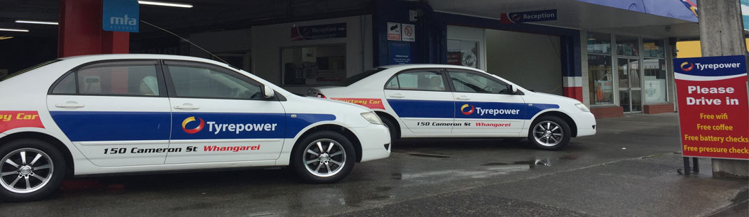 courtesy cars available at Tyrepower Whangarei