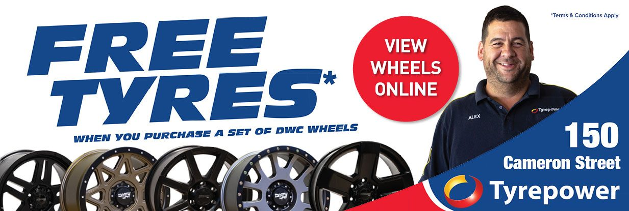 Local Whangarei Offer - Get free tyres when you buy a set of DWC wheels