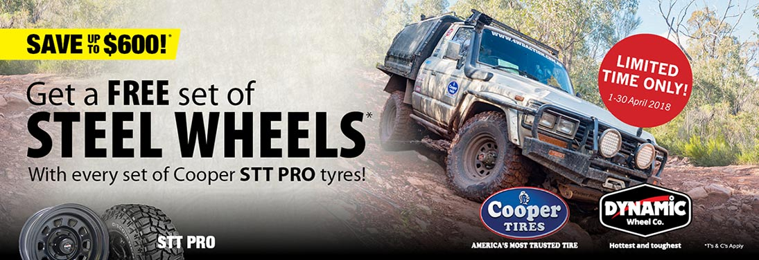 Cooper tire promotions for STT Pro tyres
