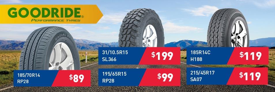 Goodride Tyre Specials
