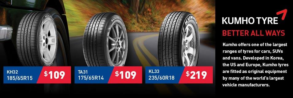 Kumho Tyre Deals from Tyrepower
