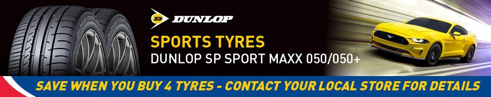 Save when you buy 4 Dunlop Sp Sport Maxx 050/050+ tyres - see in store for details