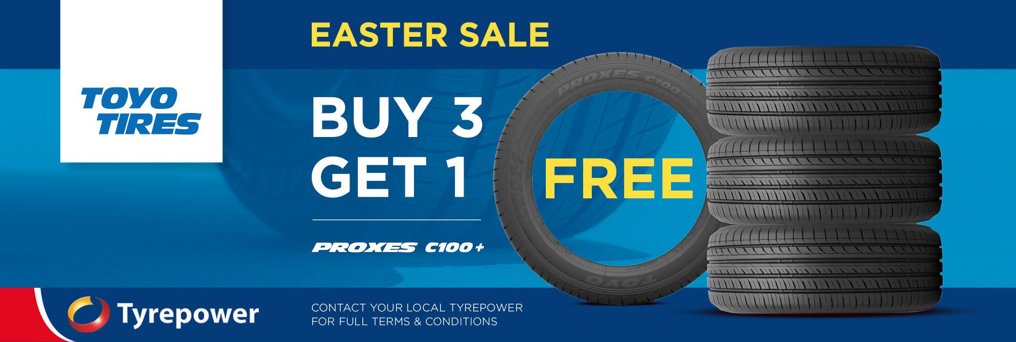 Buy 3 Get 1 Toyo Proxes C100 Free offer