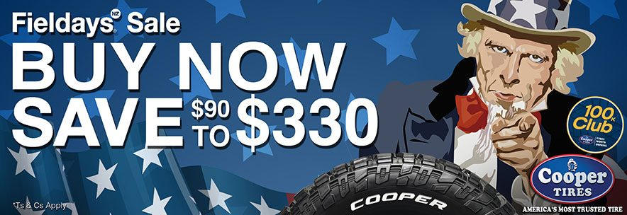 Cooper Tyres Fielddays Special Offer