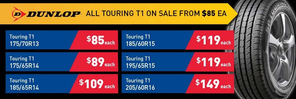 Dunlop Touring T1 tyre deals