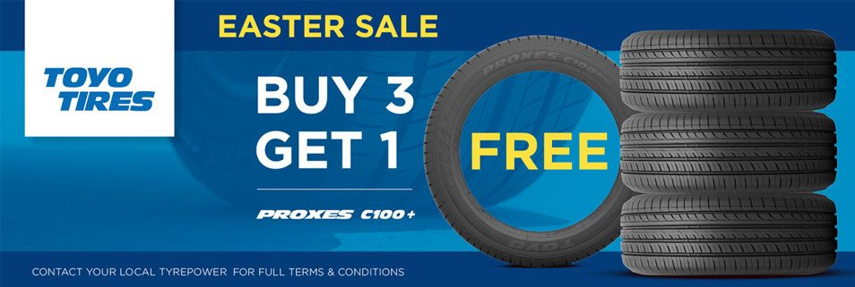Buy 3 Toyo Proxes C100+ Tyres and get one free