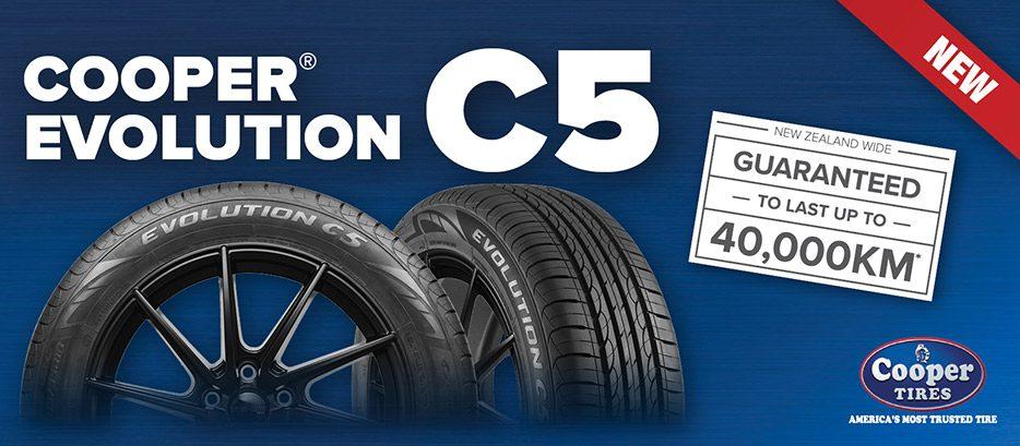 Cooper Evolution C5 Tyre guaranteed to last upto 40Km