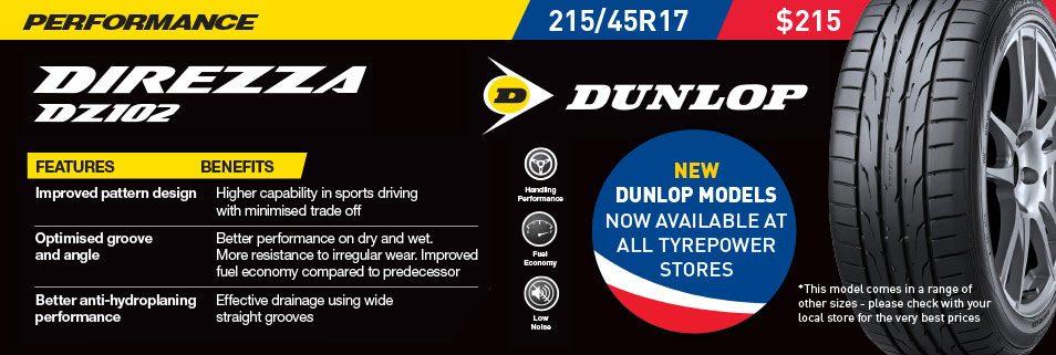 Dunlop Direzza DZ102 tyre deal