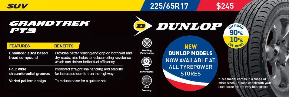 Dunlop Grandtrek PT3 Deal