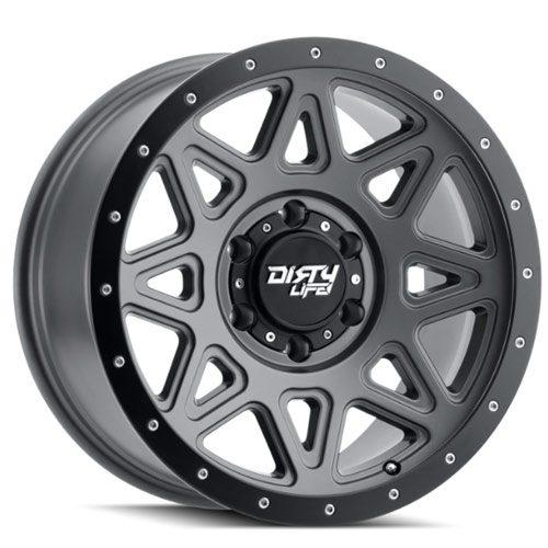 Dirty Life Theory Matt Gunmetal Alloy wheels