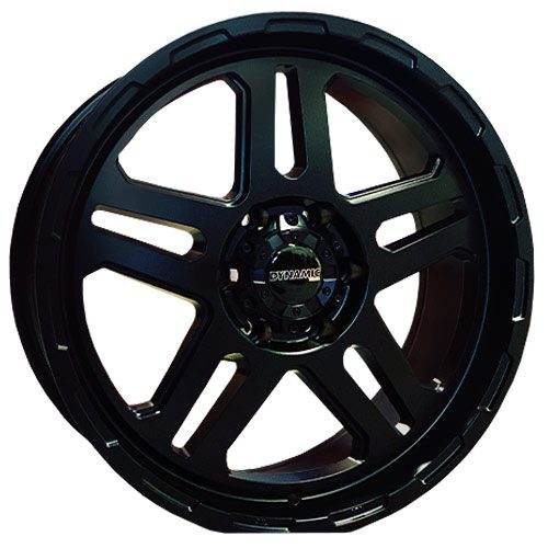 Dynamic bronx black alloy wheels