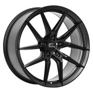 dynamic corsa nero black alloy wheels