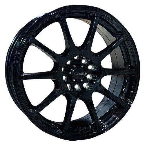 Dynamic spy black alloy wheels
