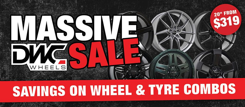 Massice DWC Wheels Sale Savings on Wheel and Tyre Combos
