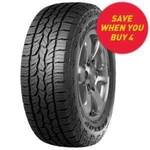Save when you buy 4 Dunlop Grandtrek tyres - see in store for details