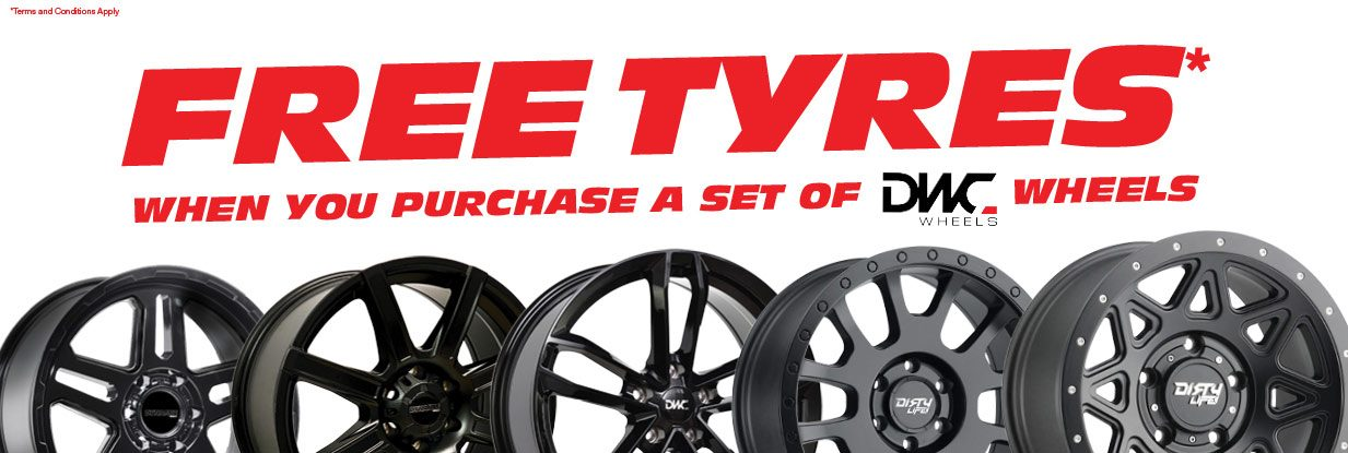 Get Free Tyres with a set of wheels