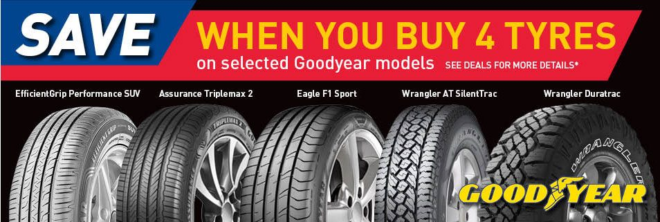 Goodyear Buy 4 Tyres and SAVE